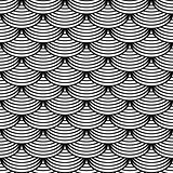 "Seamless geometric pattern in ""fish scale"" design."