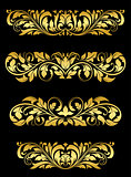 Golden floral embellishments