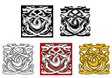 Dogs ornamental pattern in celtic style