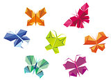 Origami butterflies