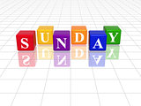 sunday in 3d coloured cubes