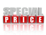 special price - letters and cubes