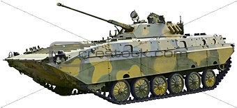 BMP 2 - Soviet fighting vehicle on white background