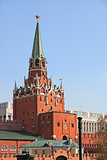 Troitskaya tower. Russia, Moscow, Kremlin.