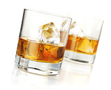 Two whiskey glasses