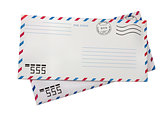 Two airmail envelopes