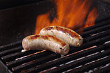 Sausages  on the Barbecue Grill