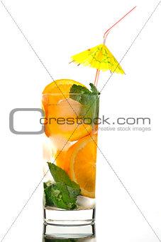 Mojito orange cocktail.