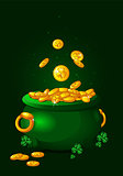 Pot of gold background