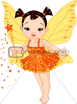 Cute Asian baby fairy