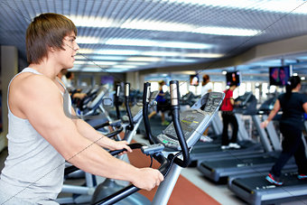 Man on the treadmill