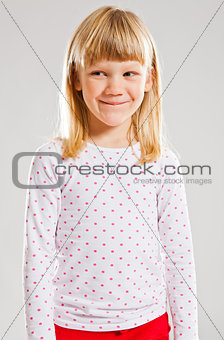 Happy young girl looking
