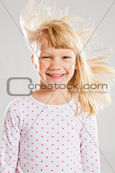 Happy smiling young girl