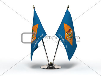 Miniature Flag of Delaware (Isolated)