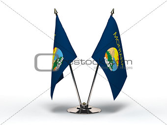Miniature Flag of Montana (Isolated)