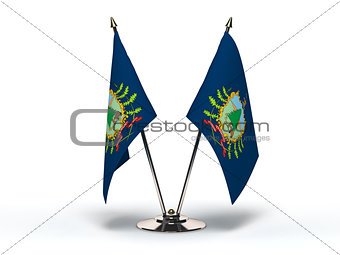 Miniature Flag of Vermonta (Isolated)