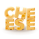 Word Cheese written with cheese