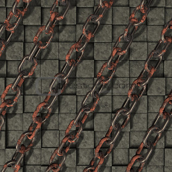 chains on stone background