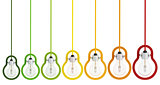 energy saving multicolor light  bulb