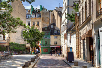 Traditional parisian street.