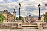 Paris cityscape. Pont Neuf.