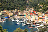 Aerial view on Portofino.