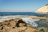 Rocks and sea. Rosh HaNikra, Israel.