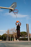 Street basketball player