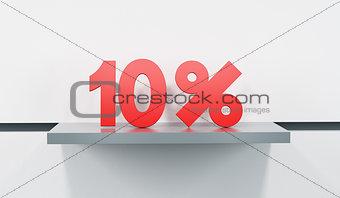 sale at 10 percent