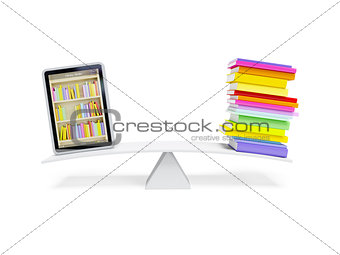 online library in the tablet