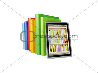 online library on the tablet