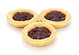 Three delicious jam tarts