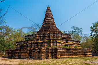 Pagoda of Ton Kok Temple, Wieng Tha Kan, in Lanna History: Part of Thailand