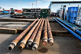 Drilling pipes for oil