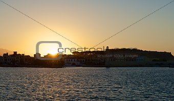Sunset over Rethymno