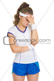 Stressed tennis player