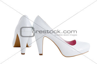 a image of female heels on a white background