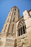 belfry of cathedral at Lleida city