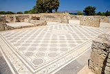 big ancient mosaic floor