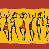 African dancers pattern