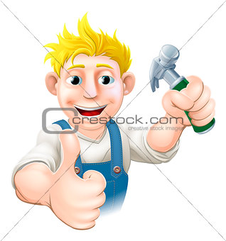 Cartoon carpenter or construction guy
