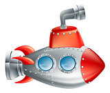 Fun Cartoon Submarine