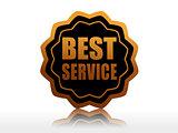 best service in black starlike label