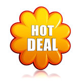 hot deal orange flower label