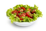 fresh light salad with cherry tomatoes and chives