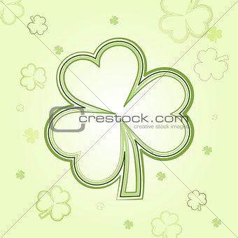 green shamrocks over light background