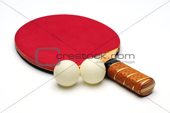 Ping Pong Racket with two tennis ball