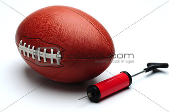 American football and pump
