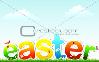 Easter on grass