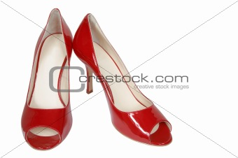 Modern red shoes
